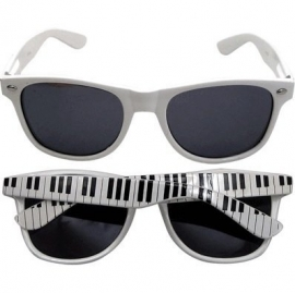 Witte zonnebril met keyboard print