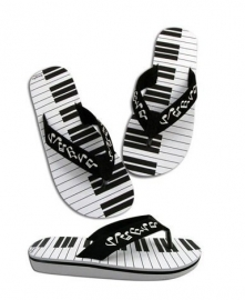 Slippers met keyboardprint