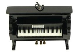 Kerstversiering klavier (zwart) 9 cm