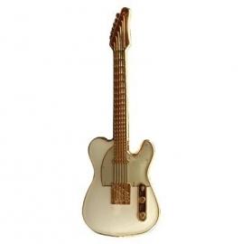 Speldje gitaar Telecaster wit