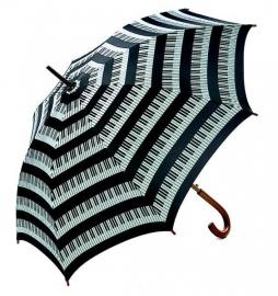 Grote paraplu met pianotoetsen