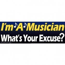 Bumpermagneet 'I'm a musician'