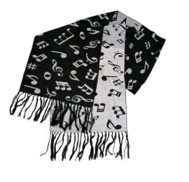 Kasjmier sjaal met muzieksymbolen