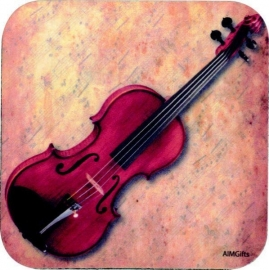 Onderzetter met viool