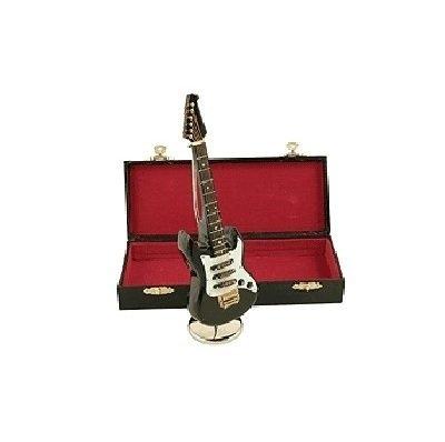 Zwarte elektrische gitaar met muziek