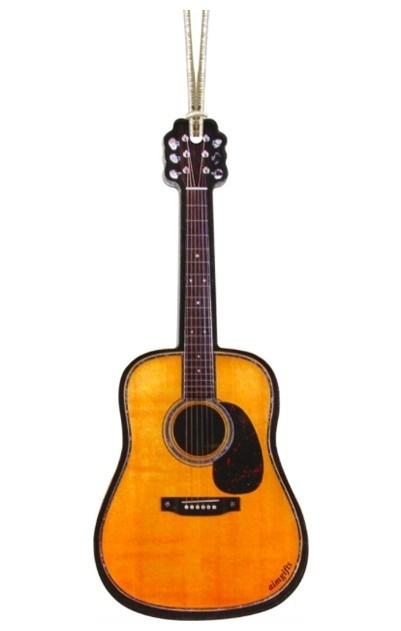 Kerstversiering akoestische gitaar 10 cm