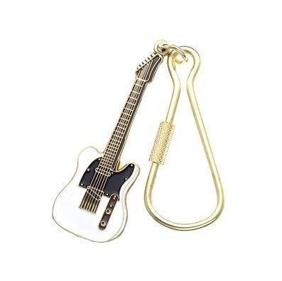 Sleutelhanger Fender Telecaster elektrische gitaar wit