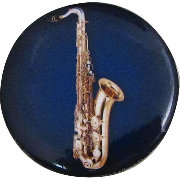 Button met saxofoon