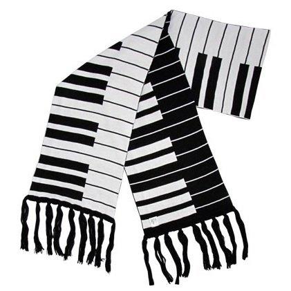 Luxe sjaal met pianotoetsen