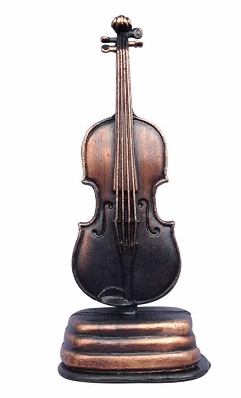 Metalen puntenslijper met viool