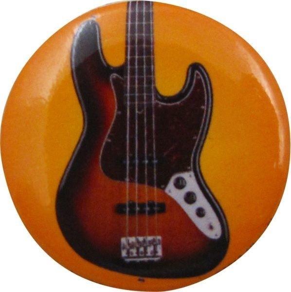 Button met basgitaar