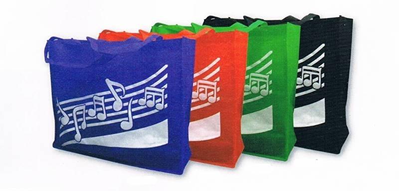 Tas met muzieknoten