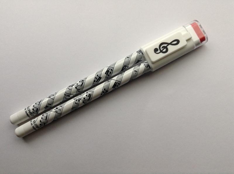 Pen en potlood met gum