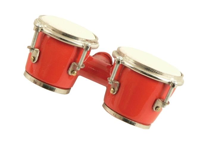 3D magneet met rode bongo's