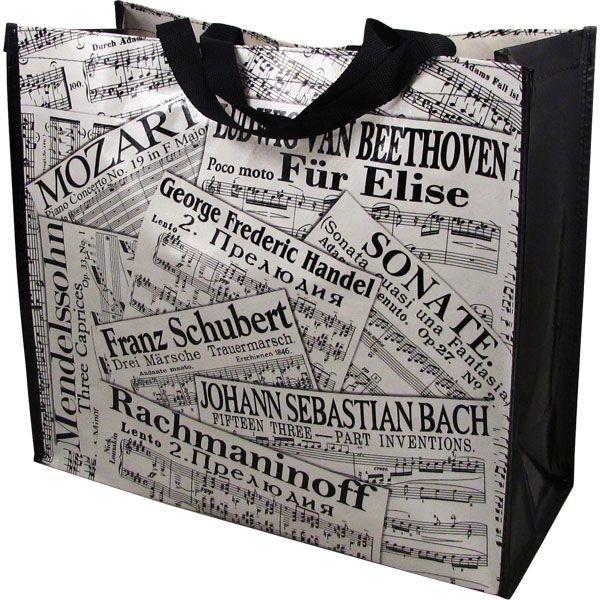 Tas met muziekcollage