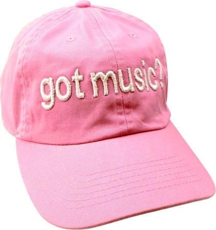 Roze basketbalpet met tekst 'Got Music?'