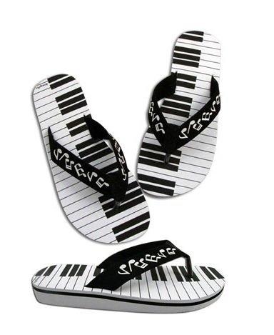 Slippers met keyboardprint