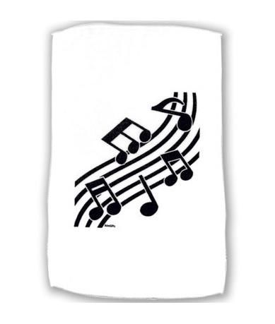 Handdoek met muzieknoten
