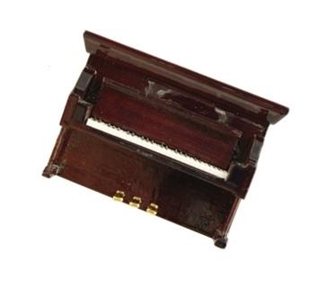 3D magneet met bordeauxrode piano