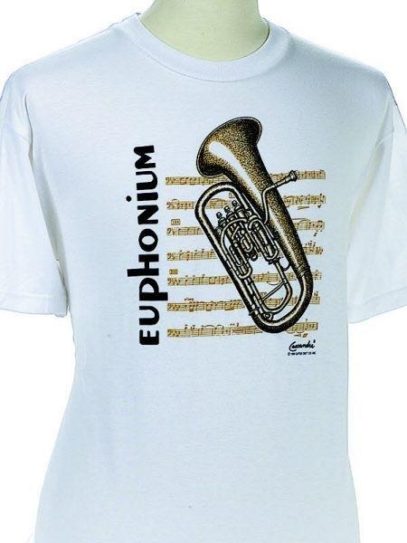 T-shirt met euphonium en bladmuziek
