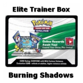 Online Code Card (Elite Trainer Box) (Burning Shadows)