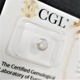 0.82 ct - Natuurlijke witte diamant - G kleur - I3 - VG / VG / VG