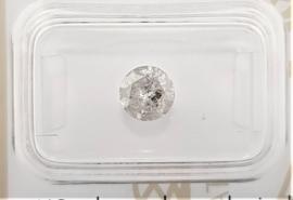 1.01 ct - Natuurlijke witte diamant - E kleur - I2 - VG/VG/VG