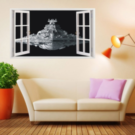 Star Wars Muursticker 3D Star Destroyer
