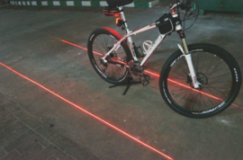 bicycle lamp with laser beams