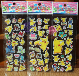 3x vellen pokemon stickers 67 stickers