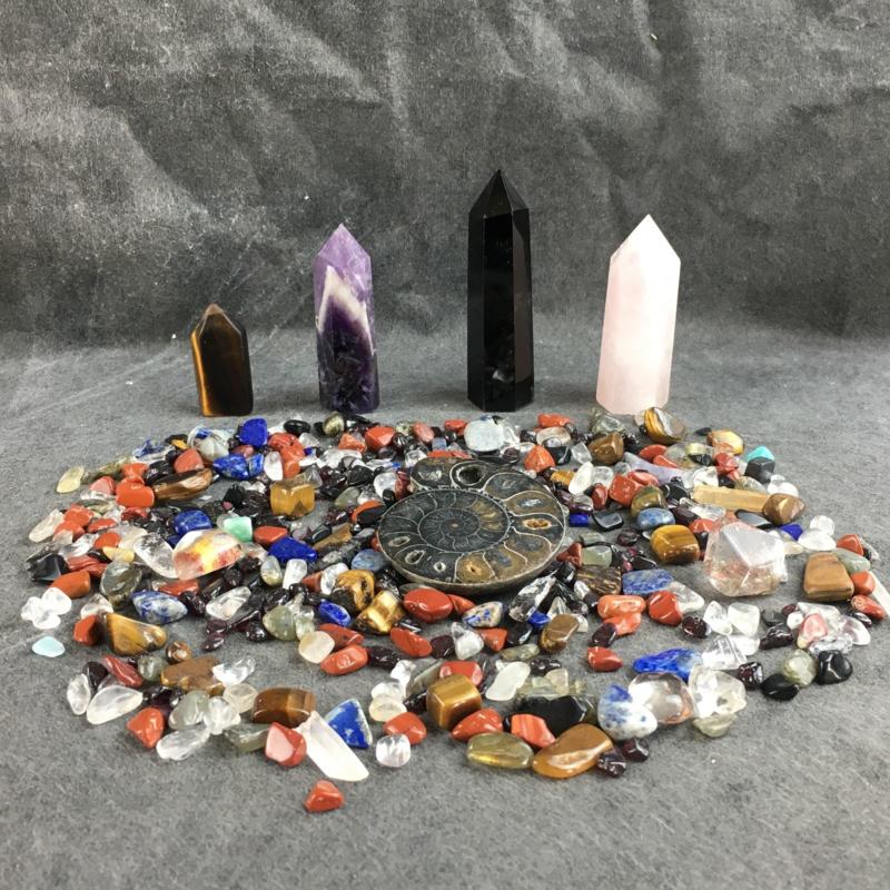 Mineralen - crystal setje