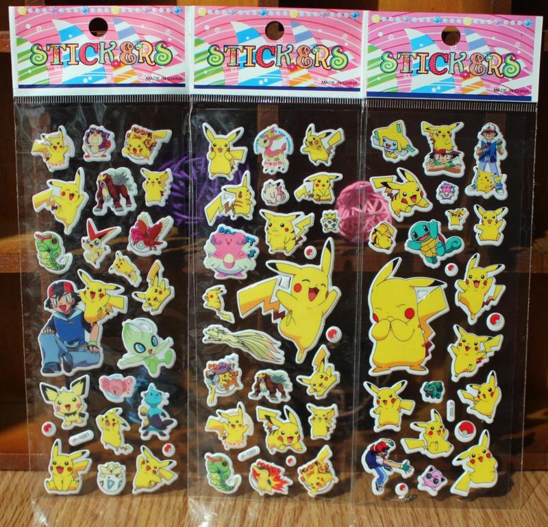 3x vellen pokemon stickers 67 stickers