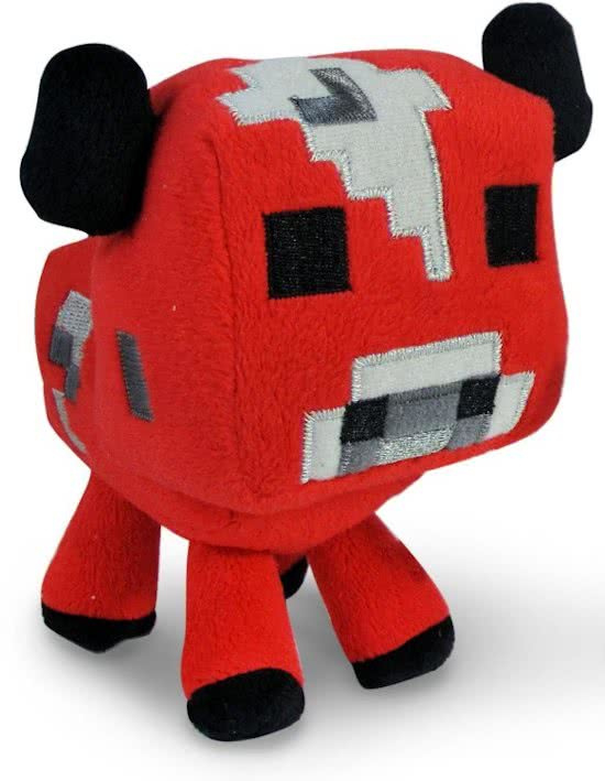 Minecraft Pluche Knuffel - Mooshroom 16cm.