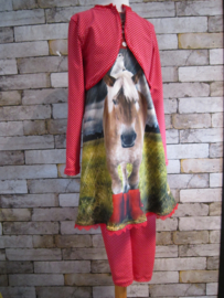 Basis set (bolero, legging ) bij Paard op regenlaarzen