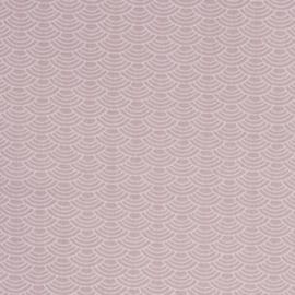 Roze met witte halfronde strepen