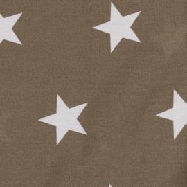 Witte sterren op bruin