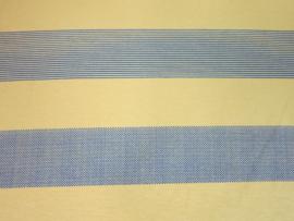Tricot streep bij vos blauw/oker
