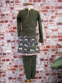 DIY pakket basis set legging en bolero bij rokje herfstgroen