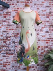 MAARTJE flamingo groen