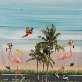 STENZO paneel / flamingo's