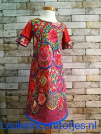 DIY pakket jurk Rode cirkels en vogels