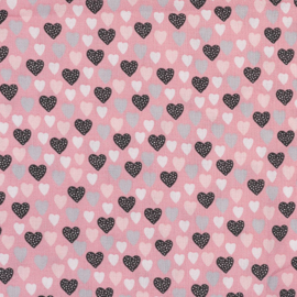 Harten op roze