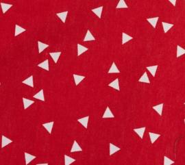 Triangel wit met rood