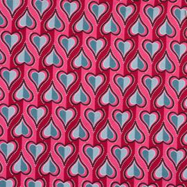 Harten op roze/rood