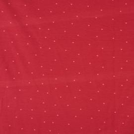 Rood met roze stippen