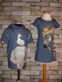 Voorbeeld pakket zebra en olifant voor Jurk en shirt