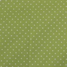 Witte dotjes met groen
