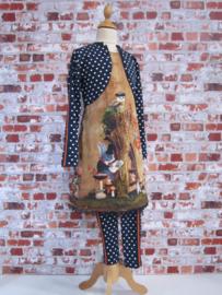 DIY pakket jurk herfst tafereel met navy