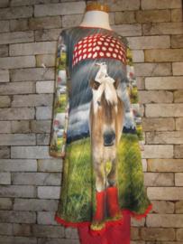 DIY pakket paneel Paard op regenlaarzen 1 jurk!