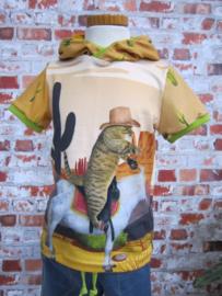 DIY pakket Boys cowboy cat shirt
